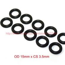 OD15mm*CS3.5mm black NBR nitrile o ring o-ring oring sealing rubber cord 70 shore a