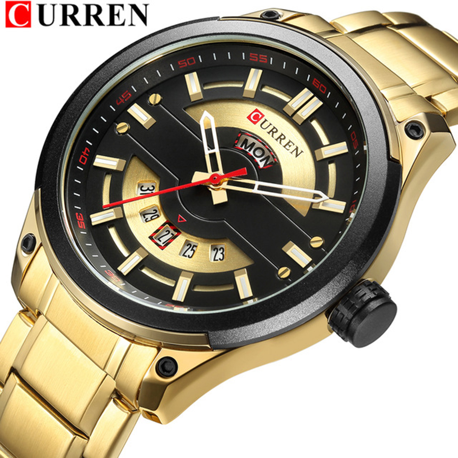 Relogio Masculino CURREN Mens Watches Luxury Top Brand Men's Fashion Casual Steel Watch Military Quartz Wristwatch Reloj Hombres-in Quartz Watches from Watches    1