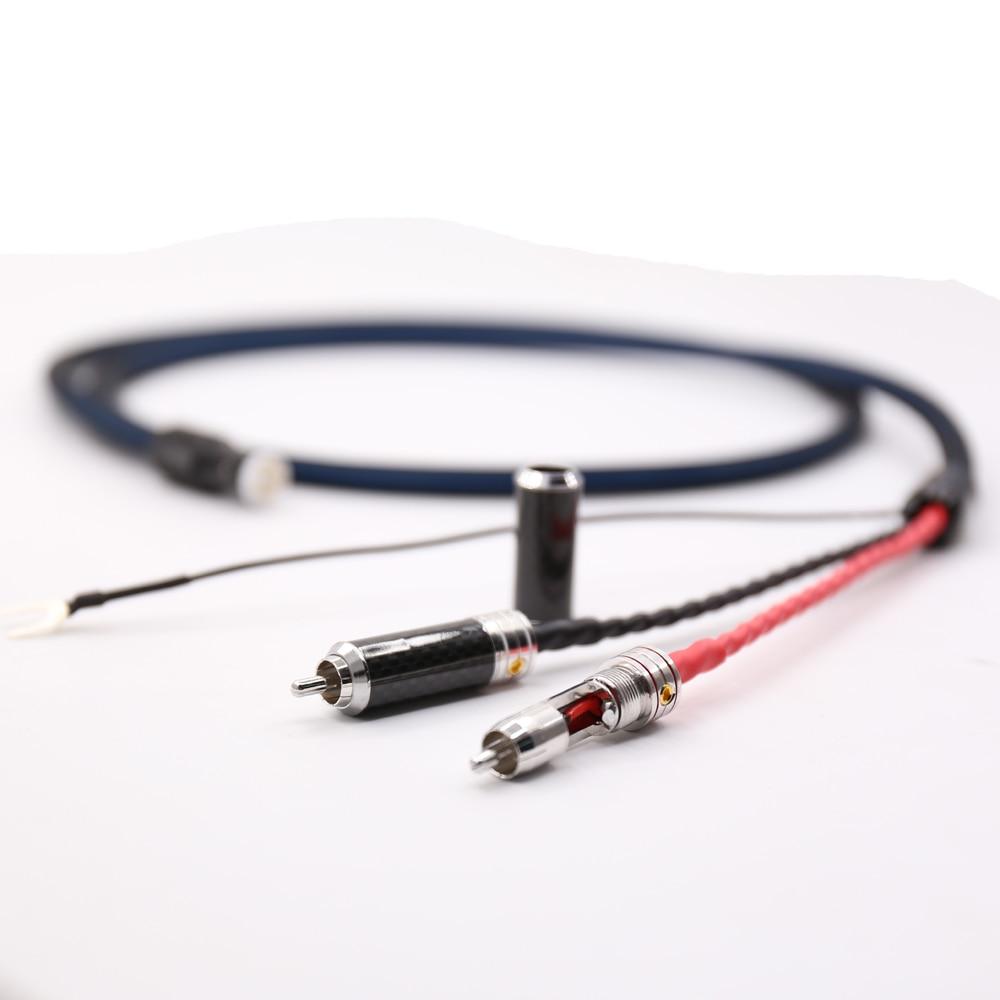 Di alta Qualità VIBORG LC800 Tonarm Cavo 5 Spille DIN & RCA Phono Dischi girevoli Cavo Analogico con OFC placcato argento cavo