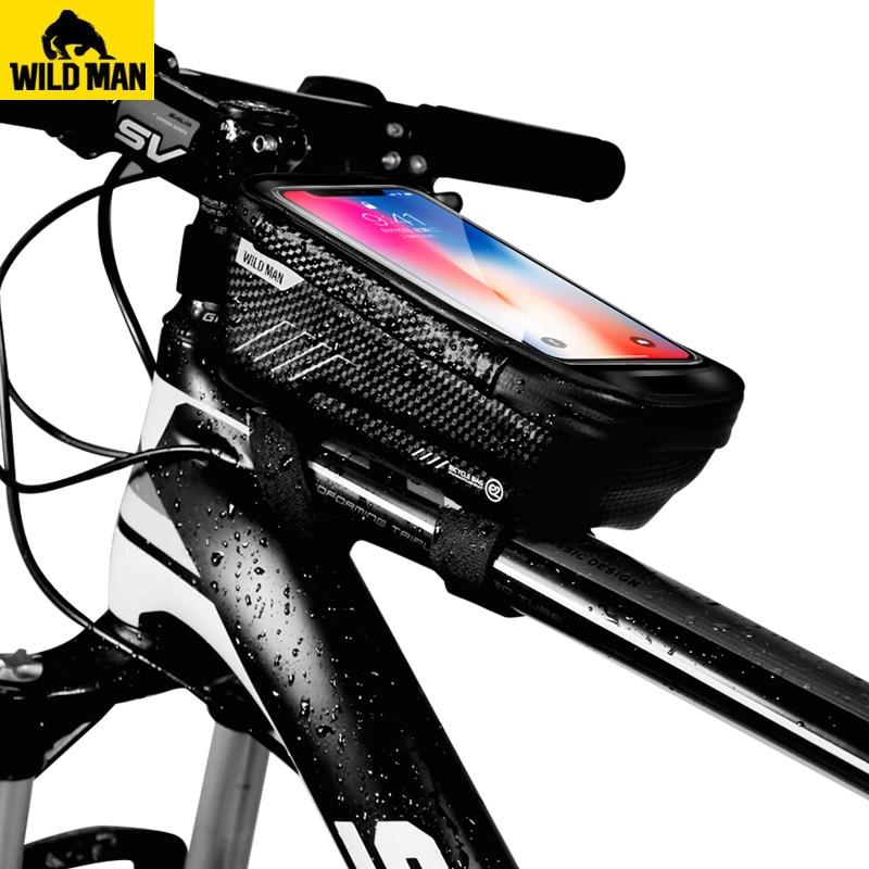 Bolsa Bicicleta Cuadro,Bolsa de Bicicleta para M/óviles Bolsa de Bicicleta para Tubo Superior Imperneable Bolsa de Manillar de Pantalla T/áctil para Bicicleta de Monta/ña de Carretera