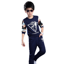 Autumn Long Sleeve Suits Cotton Kids Wear Comfortable Ropa De Nino Casual Boys Clothes Set For Two-Piece Children's Tracksuits