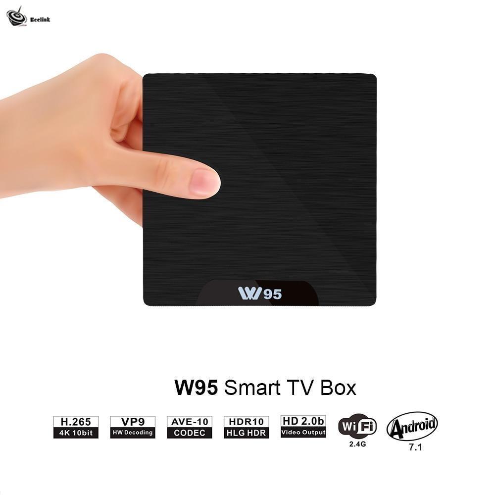 Trèfle d'abeille Android 7.1 TV Box 2GB 16GB Amlogic S905W Quad Core 2.4G WiFi H.265 4K 30fps VP9 lecteur multimédia 2G/8G 1G/8G W95 r25