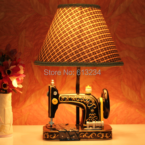 Free Shipping 3 Pieces Retro Sewing Machine Lamp / Vintage Table Lamp /  Home Lighting