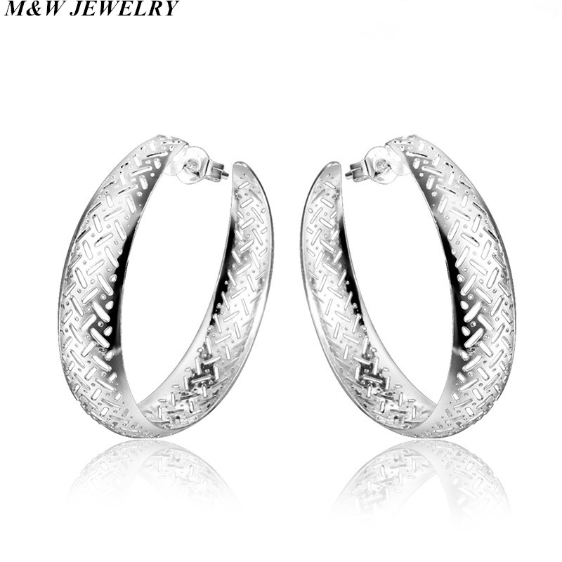 M&W JEWELRY Earrings Hot Sale Big Circle Earrings for Women Fine Jewelry Free Shipping