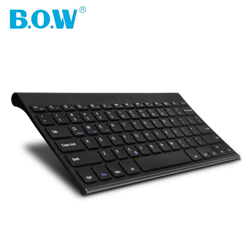 B O W Bluetooth Keyboard Stainless Steel Universal Portable Wireless Keyboard for font b Smartphone b