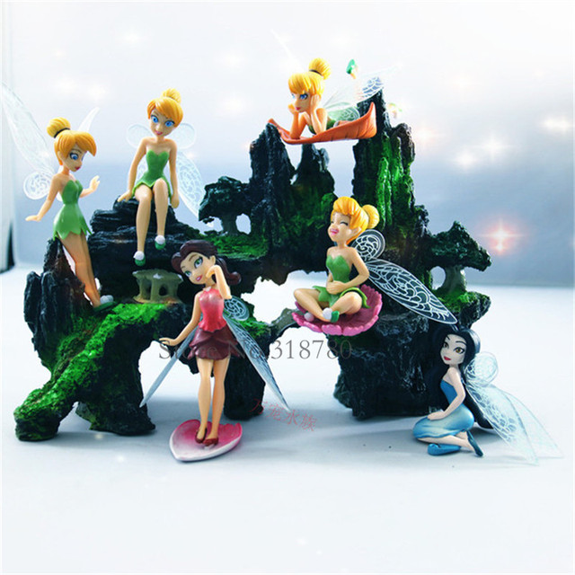 DIY Home Decoration PVC Tinkerbell Fairy Adorable Tinker Bell Figures  Pretty Doll Decor Kids Gift