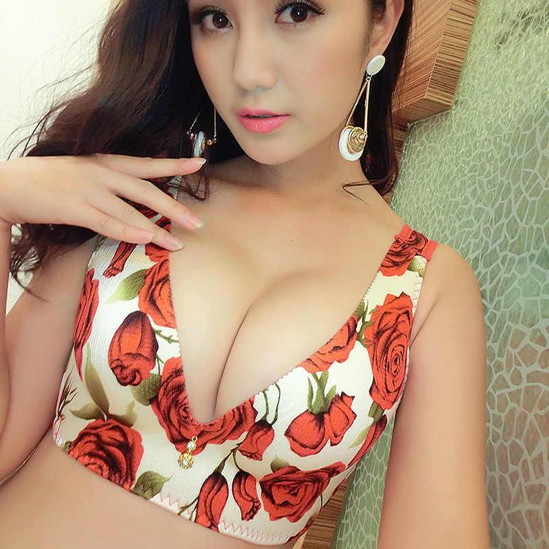 Women Bra For Big Breasted Sexy Wire Free Big Big Size Sexy Bra One Piece Seamless