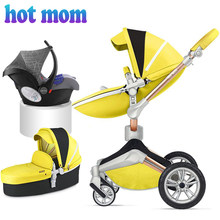 2018 Baby stroller Hot Mom 360 3in1 (stroller and car seat) excellent reviews, analogue mima xari. Stroller with free delivery(China)