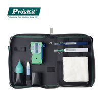 Pro'sKit Оптическое волокно набор инструментов для уборки связь инструменты LC разъем оптоволоконный очиститель и LC MU Оптическое волокно чиста