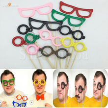 12Pcs Glasse Photo Booth Props Decoration Photobooth Wedding Birthday Event Party Supplies Photocall