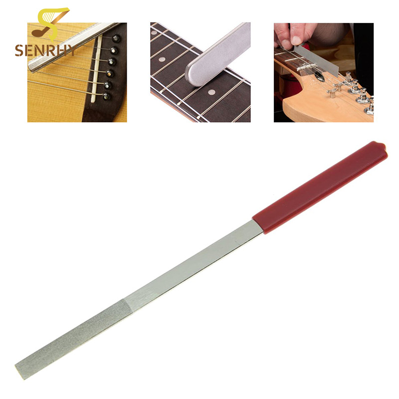 Senrhy Guitar Bass Luthier Tools 320# File Fret Cutting Edge Tool Repairing Tool For Stringed Instruments Parts Accessories