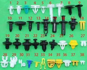 Image 1 - 300 adet 38 çeşit evrensel karışık oto Fastener araba tampon klip vida perçin kapı paneli çamurluk tüm araba için Fit