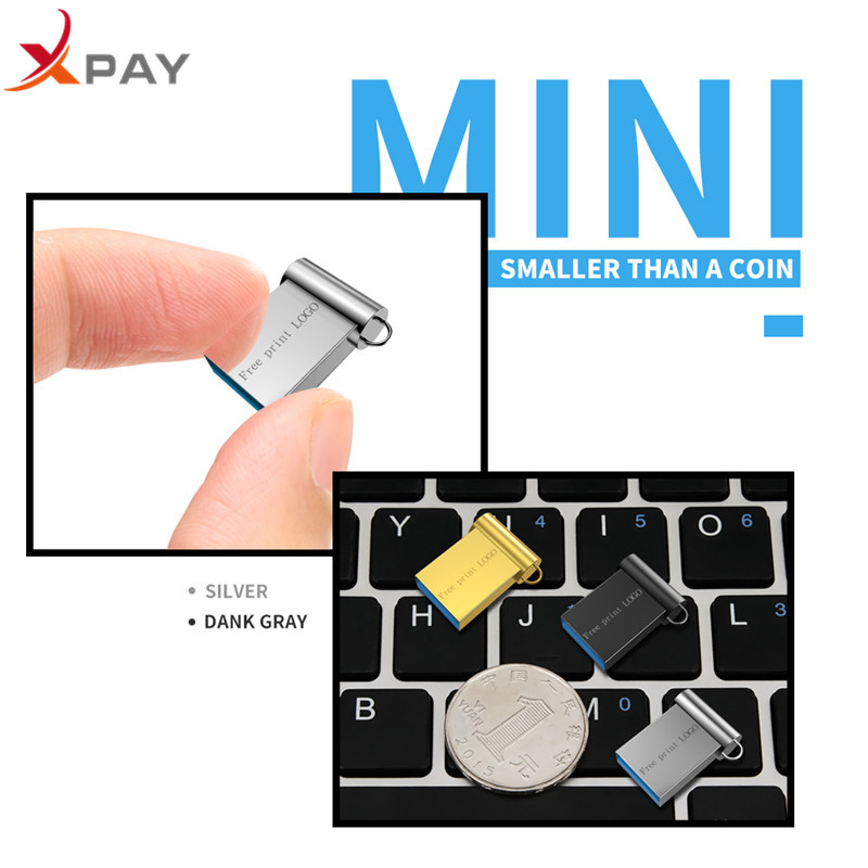 Image 3 - XPAY MINI pendrive 128GB Usb flash drive 32GB USB 2.0 pen drive 16GB 8GB 4GB usb flash 64GB for gift flash disk Free Custom Logo-in USB Flash Drives from Computer & Office