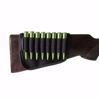 Tourbon Durable Buttstock Shell Holder Elastic Black Neoprene Hunting Rifle Ammo Buttock 8 Shells For Hunting