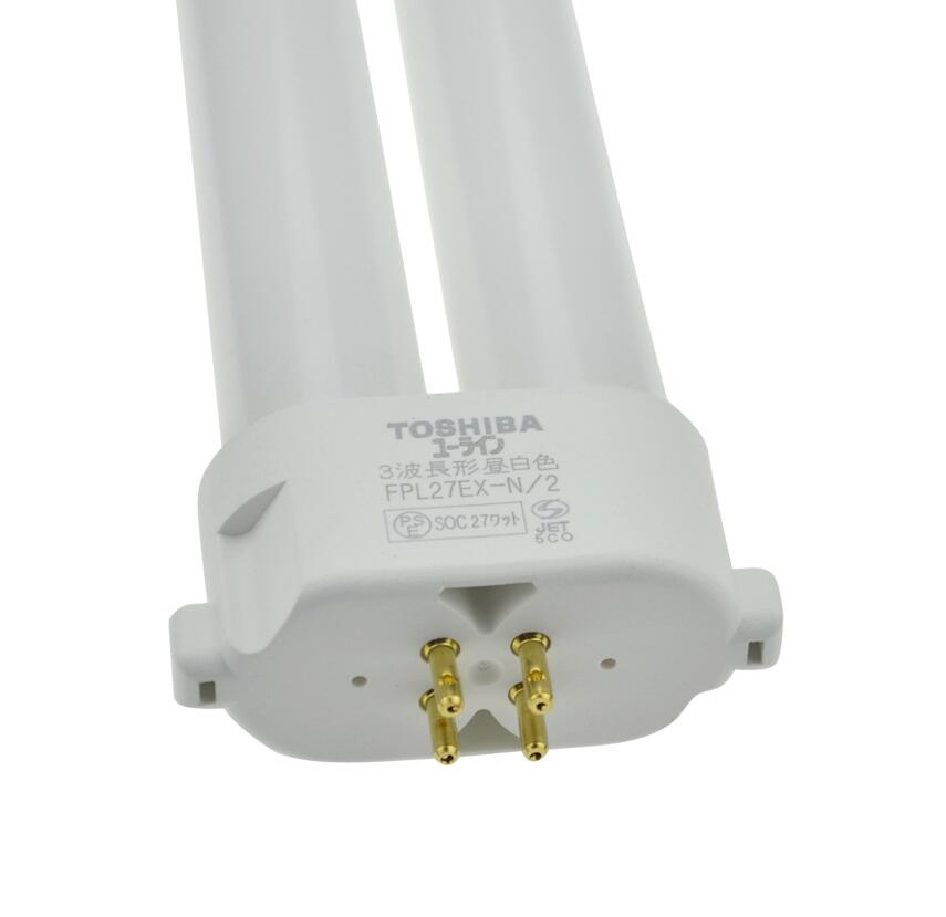 TOSHIBA FPL27EX-N/2 27W Compact Fluorescent Lamp,FPL 27EX-N / 2 CFL Daylight 4 Pins Bulb Tube