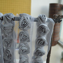 popular chiffon lace for clothing ROSE FLOWER 3d chiffon flower trim embroidered 7.5Y free delivery