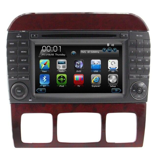 Car Radio DVD GPS Navigation Sat Navi Multimedia For Mercedes W220 W215 S280 S320 S350 S400 S500 S600 S Class Old SWC USB RDS FM