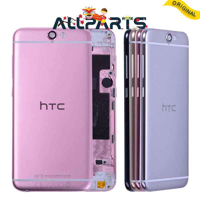 ORIGINAL Metal Rear Housing Door For HTC One A9 Back Cover Battery Case with Volume Power Button with Camera Lens Replacement