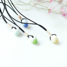 Ceramic Beads Hand-woven Necklace Fashion Women Lovers Jewelry Clavicle Necklace Wholesale(China)