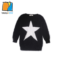 YKYY YAKUYIYI Autumn Star Embroidered Girls Sweater Casual Warm Baby Knitwear Kids Pullovers Children Clothing