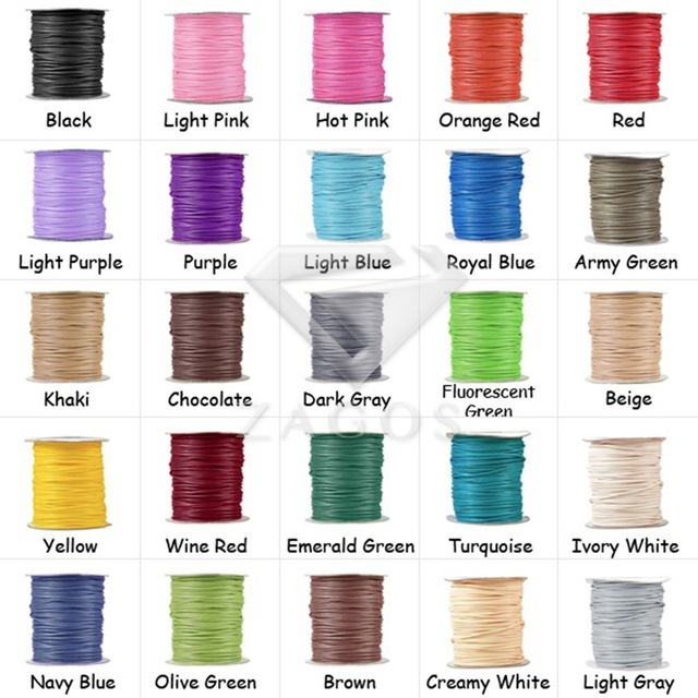 1 Roll Approx 40m Korea Waxed Cotton Finding Cord Thread 3x3mm Jewelley Making Fit Bracelet Necklace TC0115 39 Color Wholesale