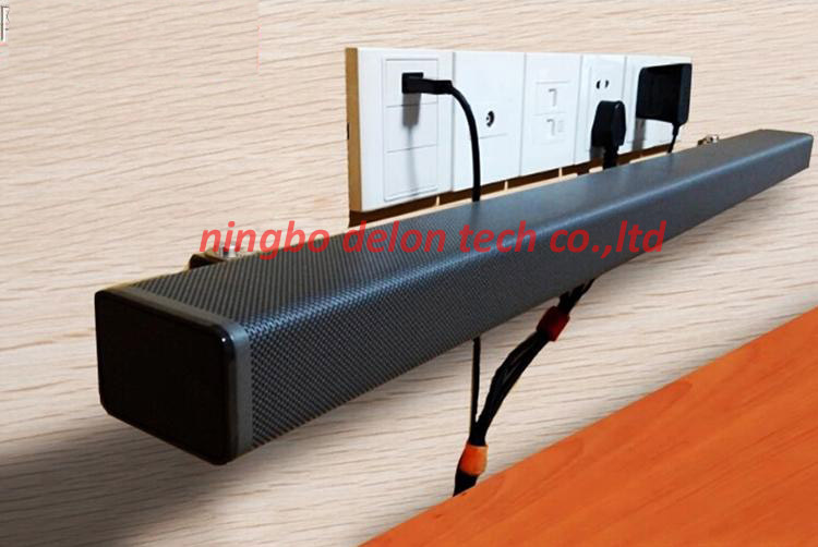 1pair universal stainless steel sound bar shaped speaker wall mount bracket stand