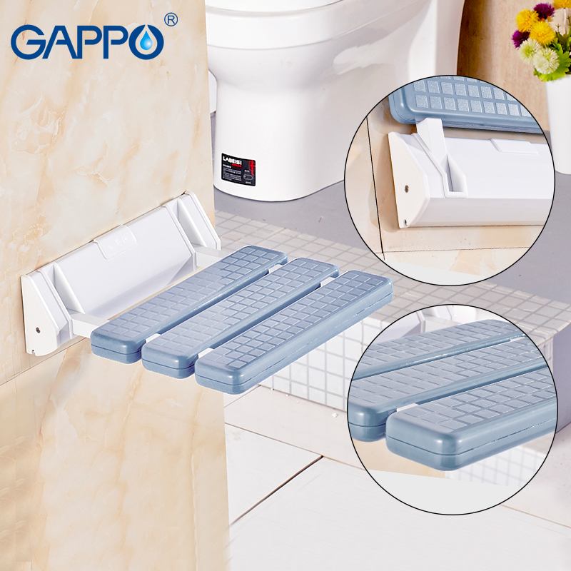GAPPO NEW toilet folding shower chair Wall Mounted Non slip panel ...