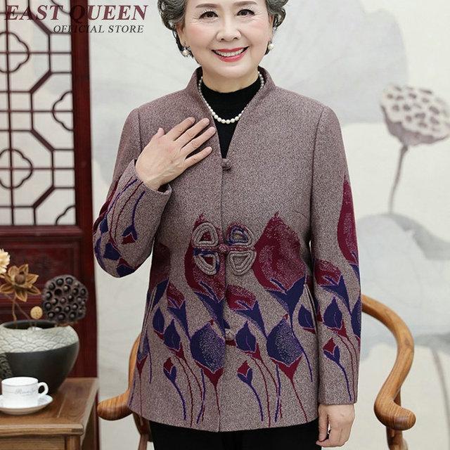 dd67adb9a5 Middle aged women coat autumn winter fashion older women clothing mom wear  winter coat AA2991 Y
