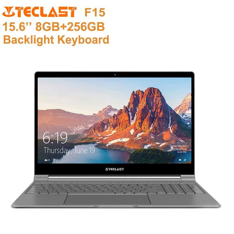 Teclast F15 Portable 15.6 ''Windows 10 Intel Maison N4100 Quad Core 1.1 GHz 8 GB + 256 GB clavier rétroéclairé ordinateur portable Micro HDMI 6000 mAh