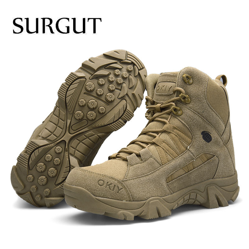 up Surgut De Outono High New cut Militar Lace Masculina Homens Sapatos Casual Beige Tático Botas Inverno Men Moda Deserto Brand brown xPrP4qg