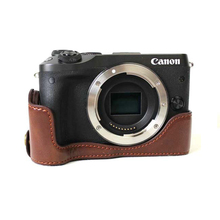 New Video Camera Case Bag For Canon EOS M6 EOSM6 PU Leather Half Body Bottom Cover Pouch