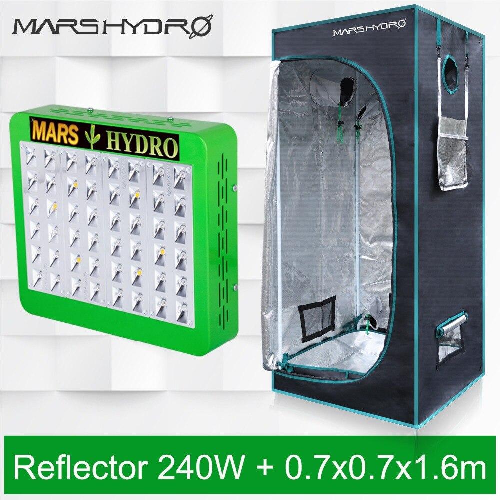Mars Hydro Réflecteur 240 W led panneau lumineux de culture Hydro + 70x70x160 tente horticole d'intérieur Kit pour plantes d'intérieur croissante veg fleur