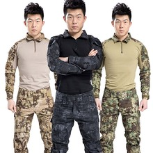 Military BDU Uniform Tactical Combat Training Suit for Airsoft Wargame Dry Quick Hunting Shirt Camouflage Pants Outfit недорого