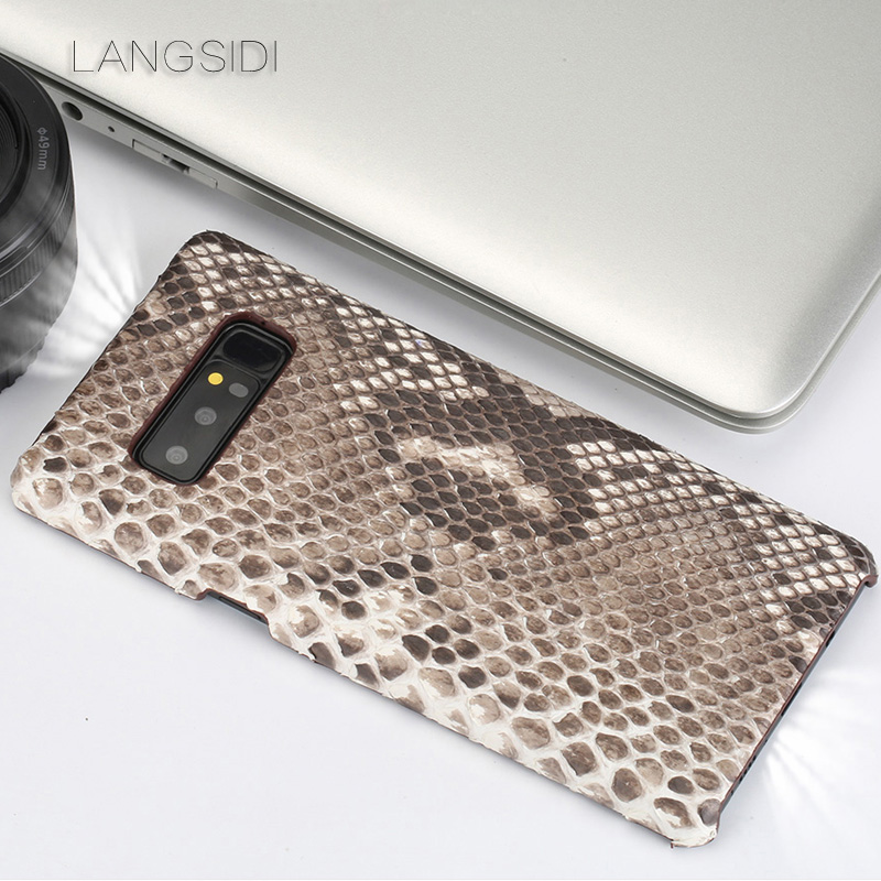 Luxe pour Samsung Galaxy J5 luxe fait à la main réel python coque peau couverture en cuir véritable coque de téléphone - 3