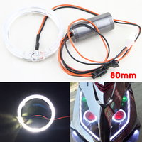 2 Pcs HID Projector LED Halo Rings 80MM 2 5 Inch Guide Light LED Angel Eyes