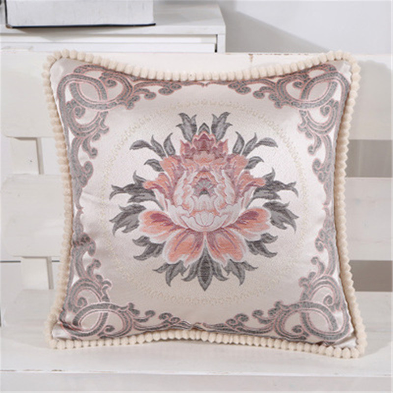 Flower Cushion Cover Pillow Cover Case Luxury Embroidery Home Decorative Sofa Chair Seat Car Cotton Designer throw MA23