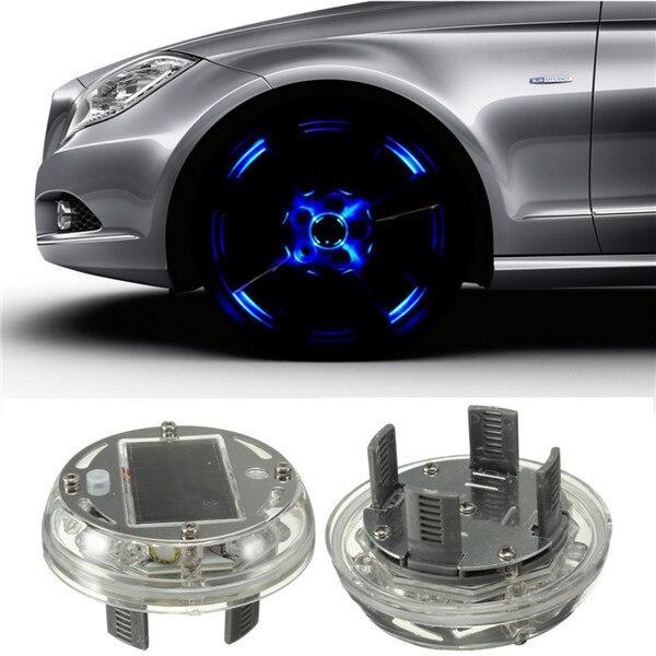New 4 Modes 12 LED Car Auto Solar Energy Flash Wheel Tire Rim Light Lamp Decoration Cover 1999-2013