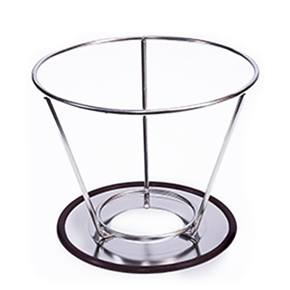 Stainless Steel Double Layer Coffee Filter Reusable Pour Over Coffee Dripper Cone With Non-slip Stand Reusable Coffee Filter