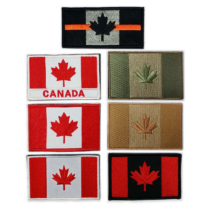 CANADA CANADIAN NATIONAL FLAG Sew on Patch Free Postage