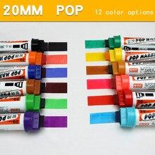 4 ピース/ロット手塗装油性アルコールベースカラーマークペン筆記厚さ 6/12/20/30 ミリメートルボードスタイルポップペン広告ポスターペン