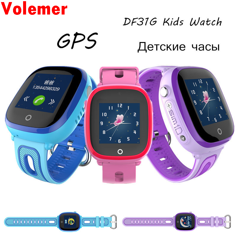 Galleria fotografica DF31G Kids Smart Watches GPS LBS Positioning Baby Safe Smart Watch SOS Call Location Anti-lost <font><b>Smartwatch</b></font> PK Q50 Q90 Q100 Q750