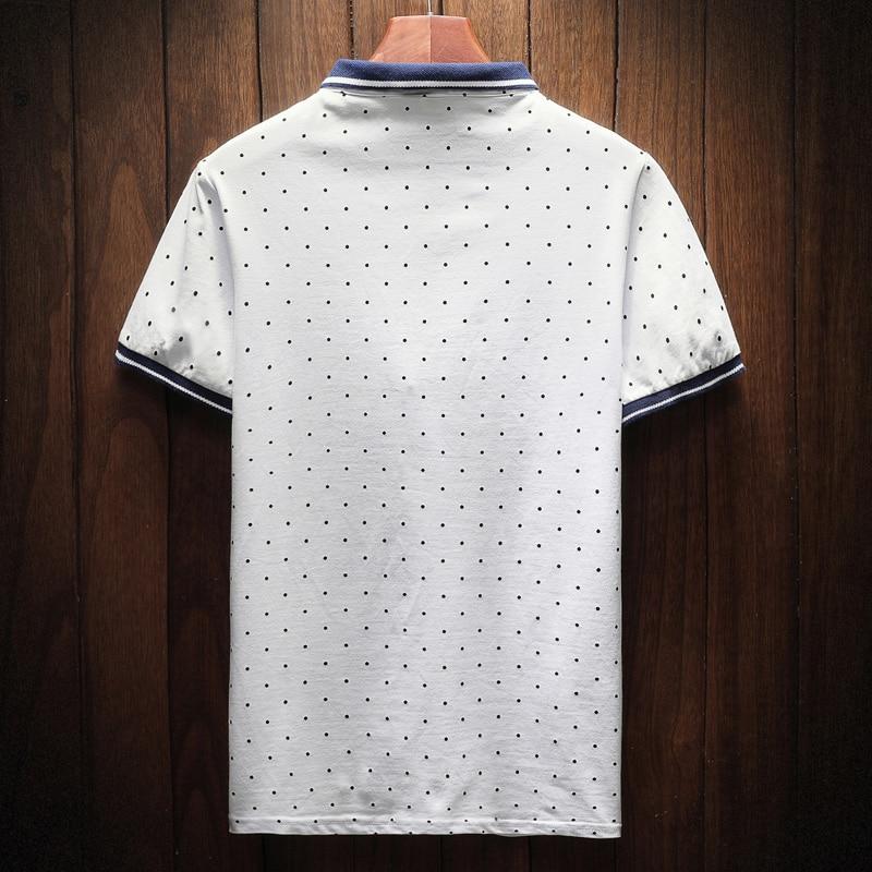 2018 New Brand Polos Mens Printed POLO Shirts Cotton Short Sleeve Camisas Polo Casual Stand Collar Male Polo Shirt 3