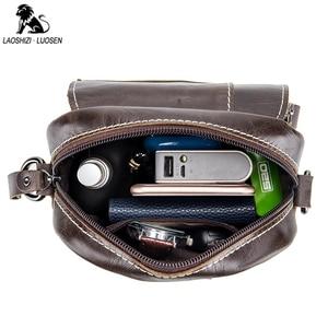 Image 3 - 2019 الرجال حقائب اليد العصرية جلد طبيعي الذكور حقيبة ساع رجل Crossbody حقيبة كتف حقائب السفر للرجال هدايا للأب