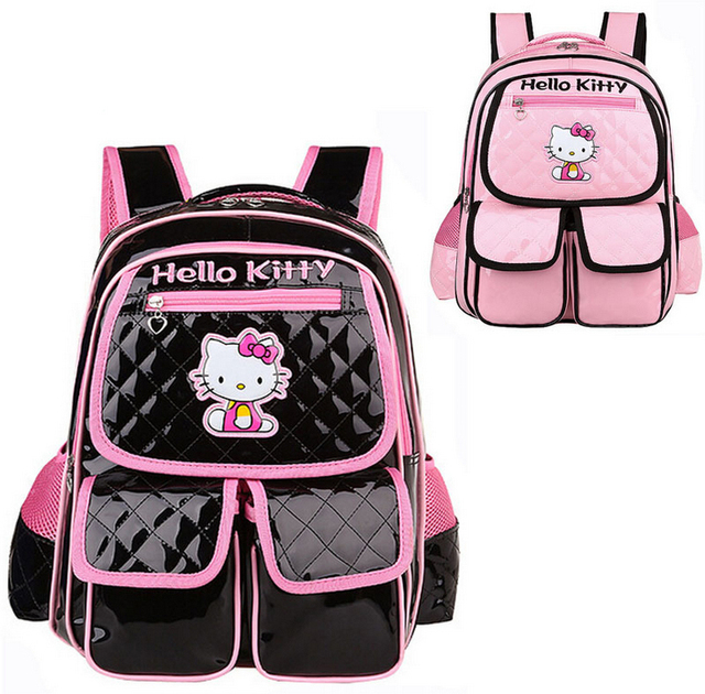 6f64f767128e Hello kitty school bags for girls imported PU kids school backpacks fashion  mochila infantil 1-