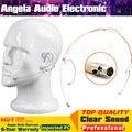 4Pcs Beige Mini XLR 3 Pin TA3F 3Pin Connector Headworn Earhook Headset Microphone Mic For SAMSON Wireless Bodypack Transmitter