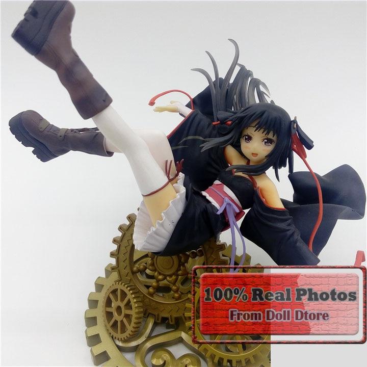 7 Japanese anime figure Fiction/Comic/Anime Unbreakable Machine-Doll Akabane Raishin Yaya On Gear Sexy PVC Figure Toys подвесной светильник 33 идеи pnd 101 03 01 ab s 03 wh 3