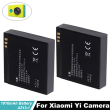 High Quality 3.7V 1010mAh Rechargeable Li-ion Battery for Xiaomi Yi XiaoYi Sports Action Camera DV Cam Replacement Battery стоимость