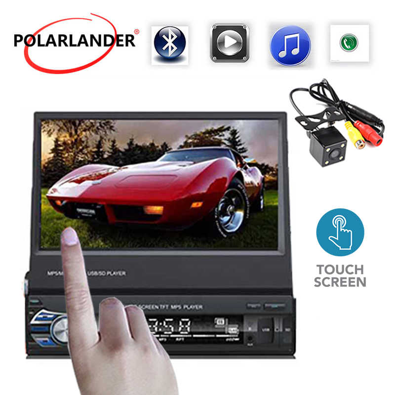 1 DIN 7 ''รถวิทยุบลูทูธ MP5 autoradio Audio Auto สเตอริโอ FM Bluetooth Touch Screen Mirror Link รถวิทยุ CASSETTE Player
