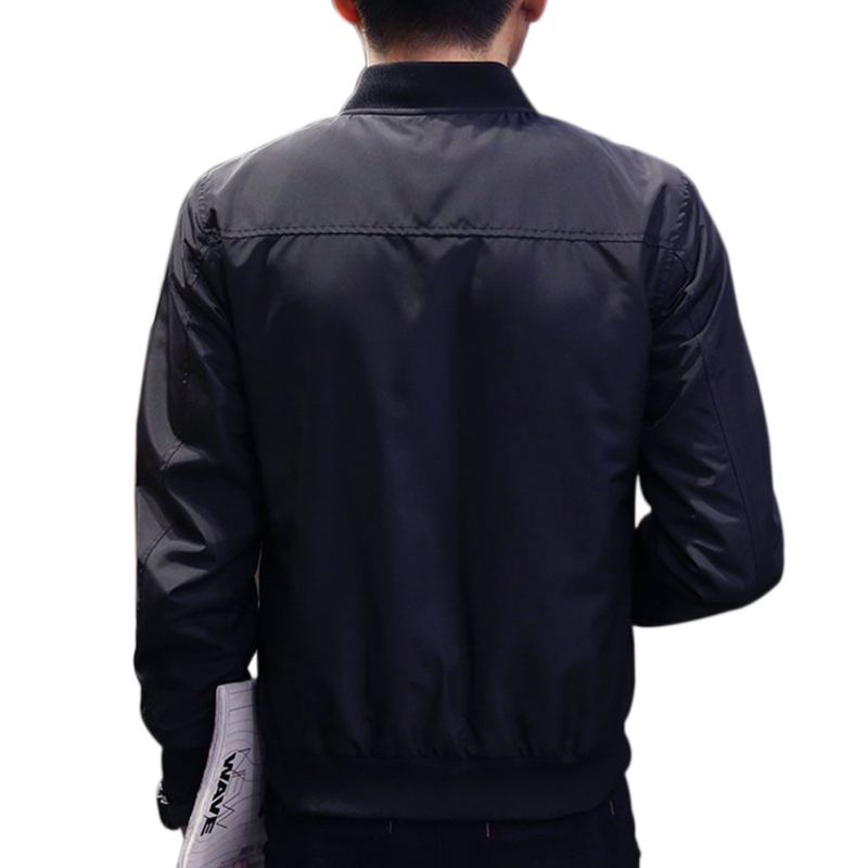 New Autumn Spring Mens Jackets Solid Fashion Coats Male Casual Slim Stand Collar Bomber Jacket Men Outerdoor Overcoat M-4XL T8