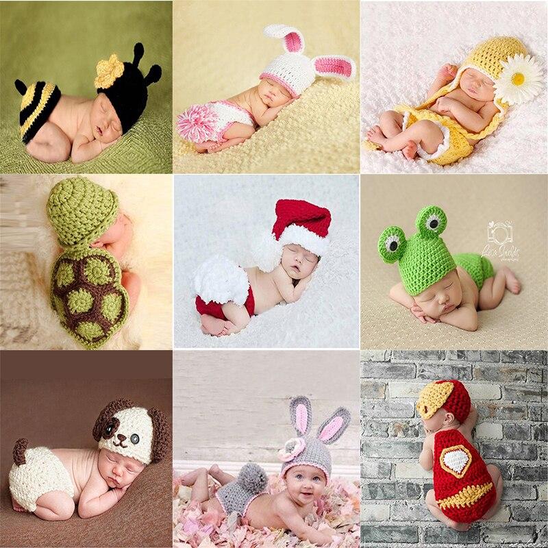 Для новорожденных милый кардиган Крючковой вязки костюм; Комплекты соответствуют фото фон для фотосъемки маленьких шляпа реквизит для фот...